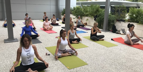 Cours de Yoga en Plein air à Topfit Polygone
